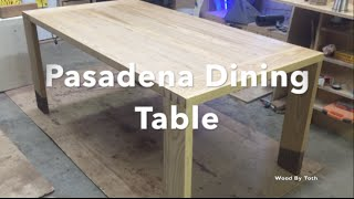 Dining Table: Mortise and Tenon with Hand Cut Dovetails