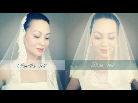 How to make a Wedding Veil with Lace Trim Drop Ballet Length and Mantilla Veil