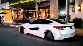 Will.i.am's Insane Custom Wide Body Tesla S in Beverly Hills