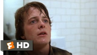 Teen Wolf (4/10) Movie CLIP - Caught in the Bathroom (1985) HD