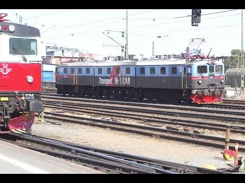 ► Tåg i / Trainspotting in Luleå [16.05.12] (Dm3, Rc2 Triple traction)