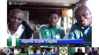 Nigeria Super Eagles Confederations Cup (Nigeria vs Tahiti) Hangout On Air