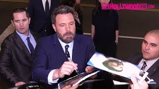 Ben Affleck Gets Mobbed By Fans While Signing Autographs At The Live By Night Movie Premiere 1.9.17