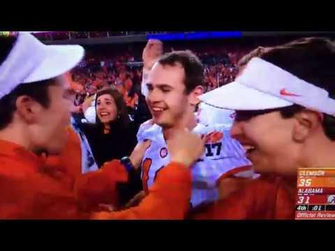 2017 Clemson Beats Alabama Renfrow Touchdown National Championship