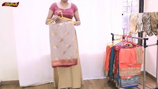 Easiest Way To Wear Cotton Silk Saree | How to Wear(Drape) Unmanageable Sari(Sarees)by own