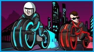 GOOD OLD FASHIONED RAGE!! - GTA 5 Online Funny Moments! (GTA 5 Deadline Adversary Mode)  GTA Tron!