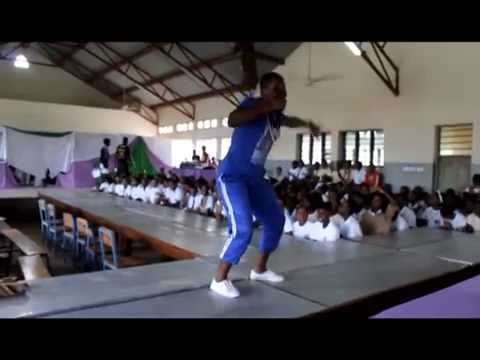 SCHOOL GIRLS DANCING TO THE BEAT IN ....TALENT SEARCH LAUNCH IN TAITA TAVETA COUNTY AT BURA GIRLS
