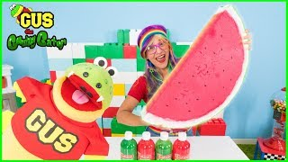 DIY How to Make Giant Fruit Watermelon Squishy Pretend Play