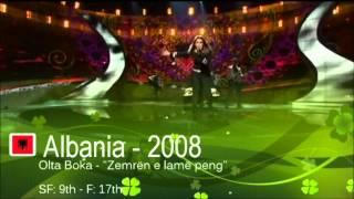 Albania in Eurovision - All Entries [HD] (2000-2013)