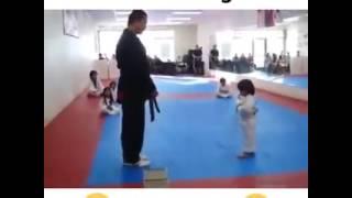 Little Bruce Lee | This kid is so cute😍😍😍