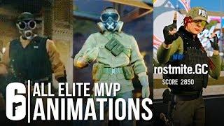 Rainbow Six Siege - ALL ELITE SKINS MVP ANIMATION + ASH, THATCHER, FUZE (All Leaked Victory Pose)