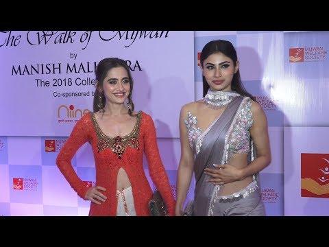 Xxx Mp4 Mouni Roy And Sanjeeda Sheikh At Mijwan Fashion Show 2018 Show By Manish Malhotra 3gp Sex