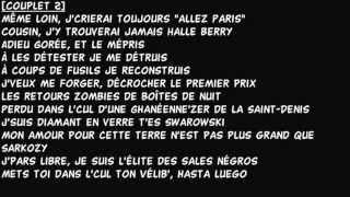 Booba - Adieu Mon Pays | Lyrics Parole |