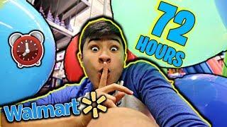72 HOUR OVERNIGHT CHALLENGE IN WALMART (HIDE and SEEK) (PART 3)