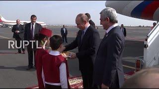 Armenia: Putin arrives in Yerevan ahead of CSTO session