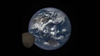 NASA Camera Catches Moon 'Photobombing' Earth