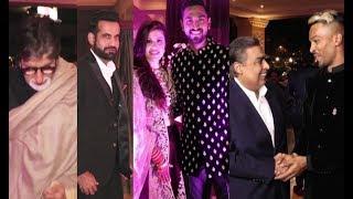 Krunal Pandya Wedding Reception - Hardik Pandya, Amitabh Bachchan, Mukesh Ambani With Family
