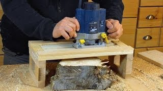 simple Router Planer Jig - Woodworking // how to