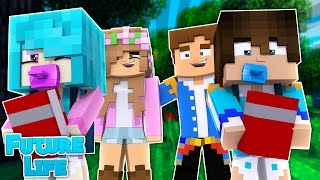 LITTLE KELLYS KIDS FIRST DAY OF SCHOOL! Minecraft Future Life w/LittleDonny (Custom Roleplay)