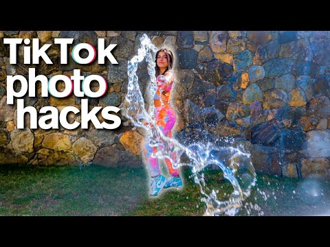 Viral TIKTOK PHOTO HACKS At Home Challenge funny