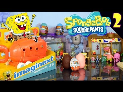 Kinder Surprise Eggs Hunt With Spongebob Squarepants Playdoh Egg By Disney Cars Toy Club