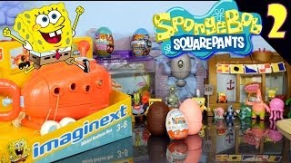 Kinder Surprise Eggs Hunt With Spongebob Squarepants + Playdoh Egg By Disney Cars Toy Club