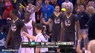 Golden State Warriors vs Oklahoma City Thunder - Highlights February 27, 2016  NBA