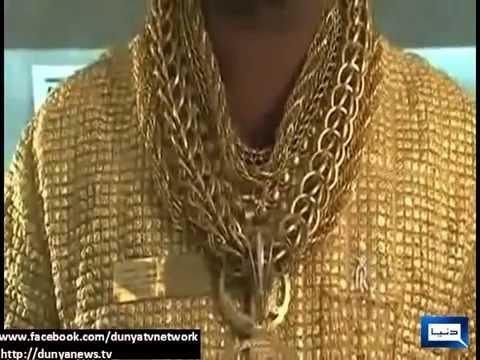 Gold shirt man indian