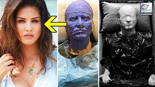 Sunny Leone's SCARY MAKEUP Pictures Go Viral | LehrenTV