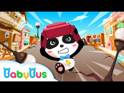 Baby Panda Earthquake Safety Tips Kids Games Gameplay Videos For Children BabyBus