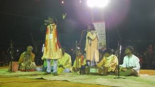 Jhumur song by Sunil Pal, Bankura | using leaf as flute