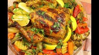 دجاج مشوي بكيس الحراري في الفرن مع الخضار يذوب في الفم لذيذة بصوص باربكيو مع رباح ( الحلقة 567 )