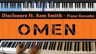 Disclosure ft. Sam Smith - Omen - LOWER Key (Piano Karaoke / Sing Along)