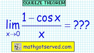 Limits finite squeeze sandwich theorem lim x-0 sin x/x (1-cos x)/x Pinch AP Calculus