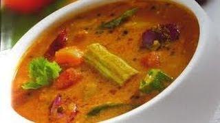 How to make Sambar-A traditional south indian recipe for dosa ,idly and upma - Sambar