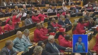 Minister Maite Nkoana Mashabane accused of sleeping in Parliament by EFF Mbuyiseni Ndlozi