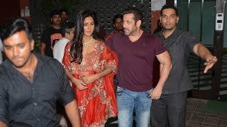 Salman Khan With GIRLFRIEND Katrina Kaif At His Diwali Party 2017