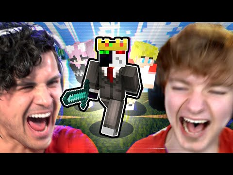 I spent a day with MINECRAFTERS TommyInnit Ranboo Nihachu