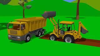 Excavator and #Bulldozer - School Construction - Street Vehicles | Maszyny Budowlane Budowa