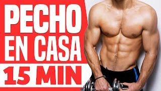 RUTINA PECTORALES EN CASA - Pectoral y brazos 15 minutos