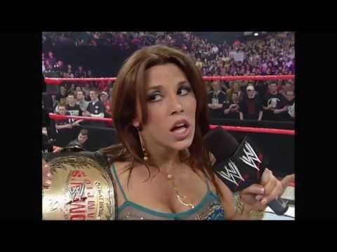 WWE RAW 24/04/2006│Mickie James & Trish Stratus Segment