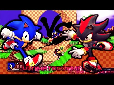 Super Smash Flash 2 Sonic VS Shadow HD