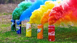 Making Colored Smoke from Basic Materials