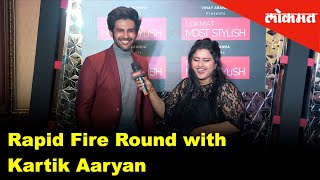 Rapid Fire Round with Kartik Aaryan | Exclusive Interview | Lokmat Most Stylish Awards 2018