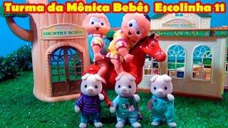 Turma da Mônica Bebê Escolinha 11  AVENTURA À CAVALO - A ESCOLA DOS 3 PORQUINHOS