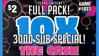 Full Pack! 125X 10X The Cash! Texas Lottery Scratch Offs Part 5