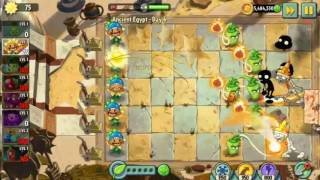 Plants vs Zombies 2 : Ancient Egypt - Day 06