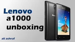 Lenovo A1000 Unboxing & Review