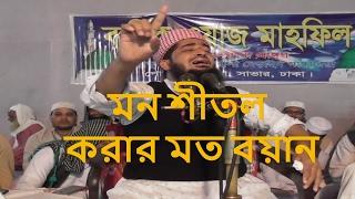 Eliasur Rahman Zihadi bangla waz । মন শীতল করার মত বয়ান । bangla waz new 2017