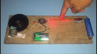 How to make laser ljight security alarm at home , science project 2018